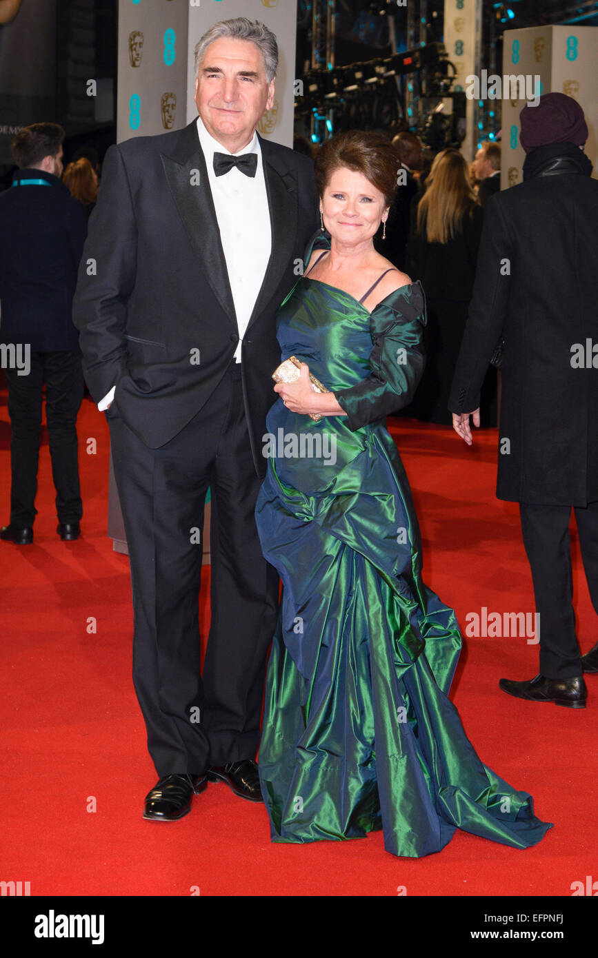 Imelda Staunton, Jim Carter arrives on the red carpet for the EE BRITISH ACADEMY FILM AWARDS on 08/02/2015 at Royal - Stock Image