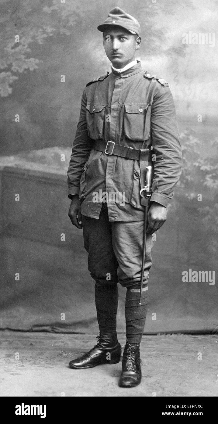 A Romanian soldier in the uniform of the inter war years and WW2 - Stock Image