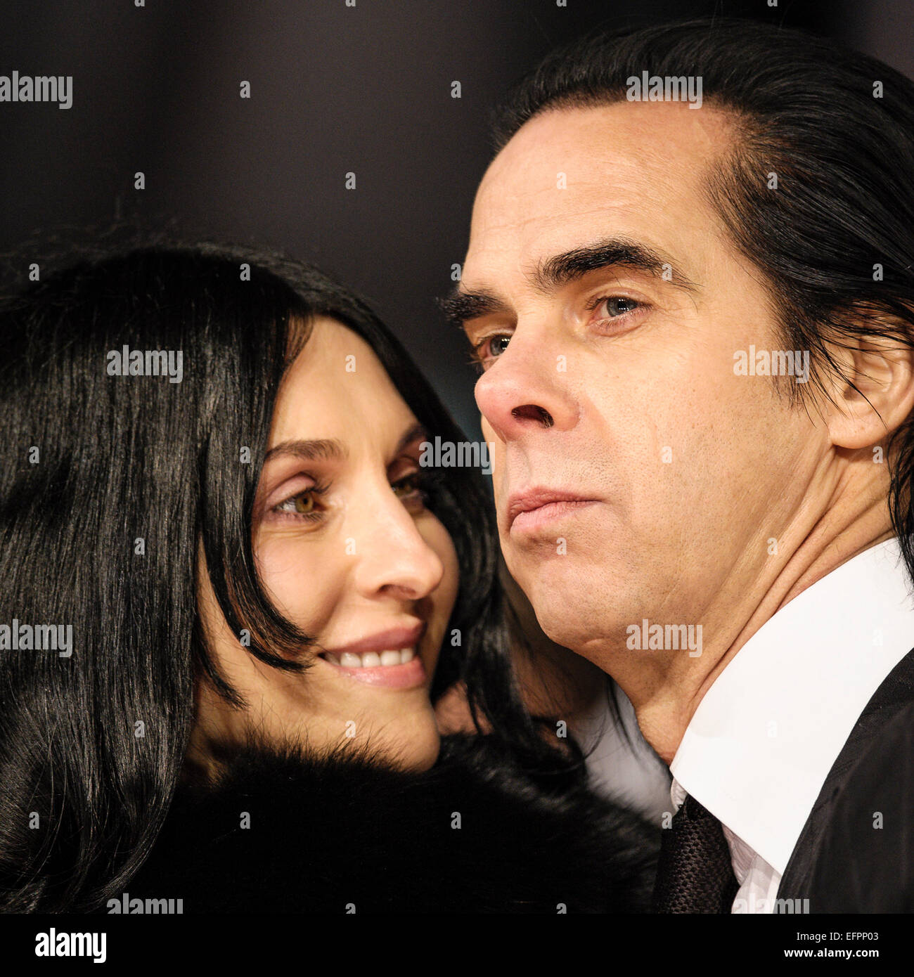 Nick Cave Arrives On The Red Carpet For The EE BRITISH
