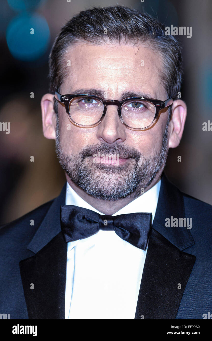 Steve Carell arrives on the red carpet for the EE BRITISH ACADEMY FILM AWARDS on 08/02/2015 at Royal Opera House, - Stock Image