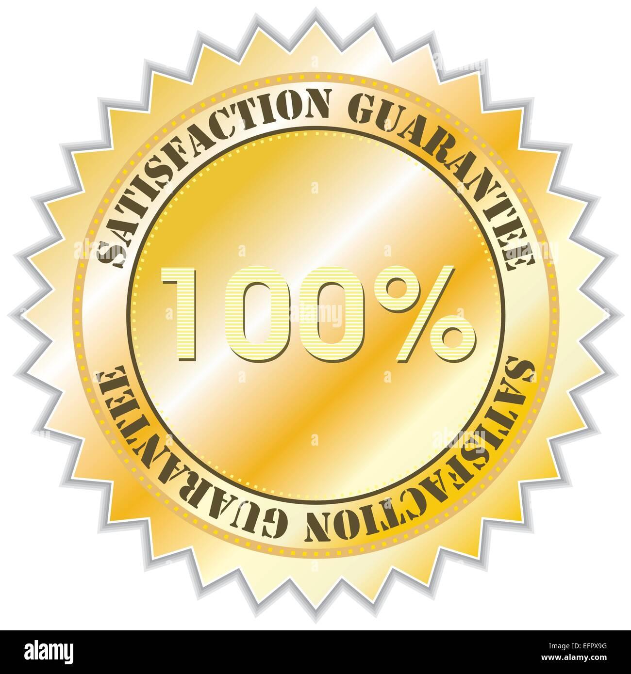 Satisfaction guarantee label, vector illustration - Stock Vector