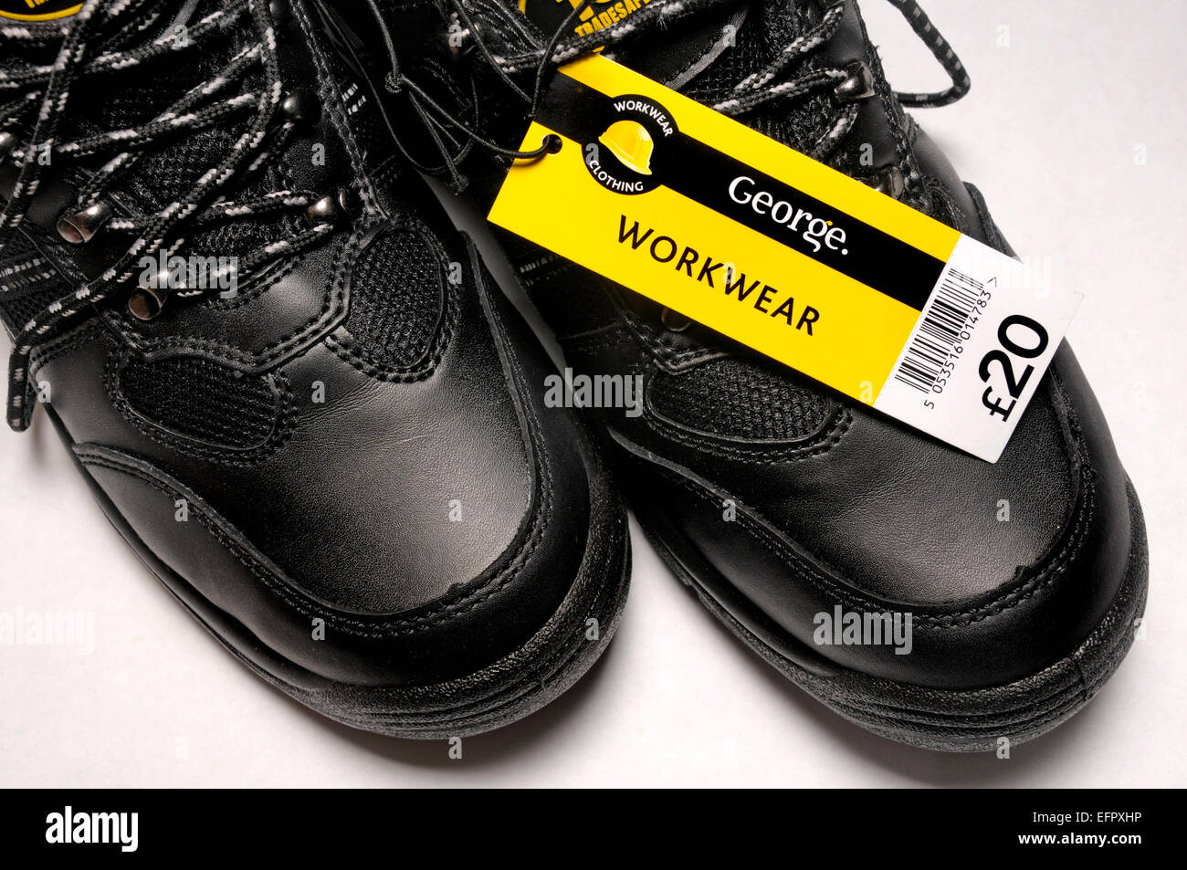 Cheap shoes (£20) bought at Asda (UK) - Stock Image