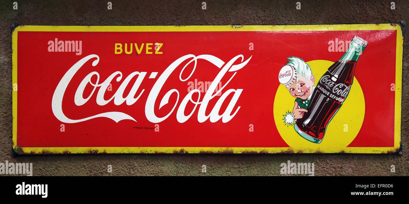 Drink Coca Cola.circa 1930.Vintage - Stock Image