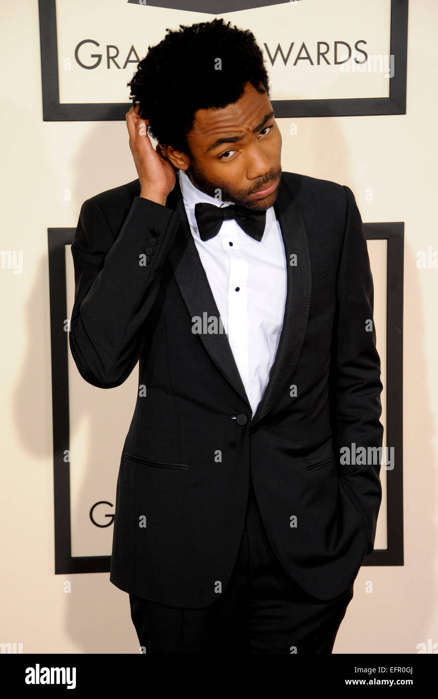 Los Angeles, USA. 08th Feb, 2015. Donald Glover  57.Annual Grammy Awards 2015   08/02/2015. Credit:  dpa picture - Stock Image