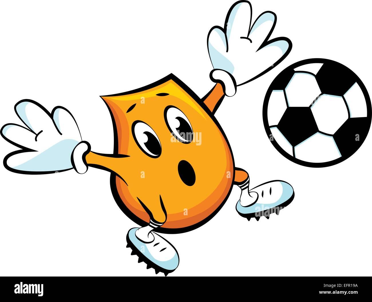 Blinky the goalkeeper, vector illustration - Stock Vector