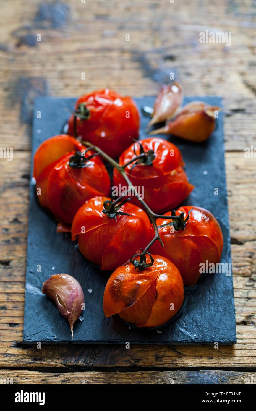 Roast tomatoes - Stock Image