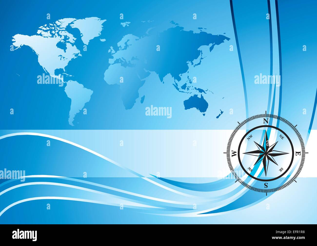 Blue background with compass and world map vector illustration blue background with compass and world map vector illustration gumiabroncs Images