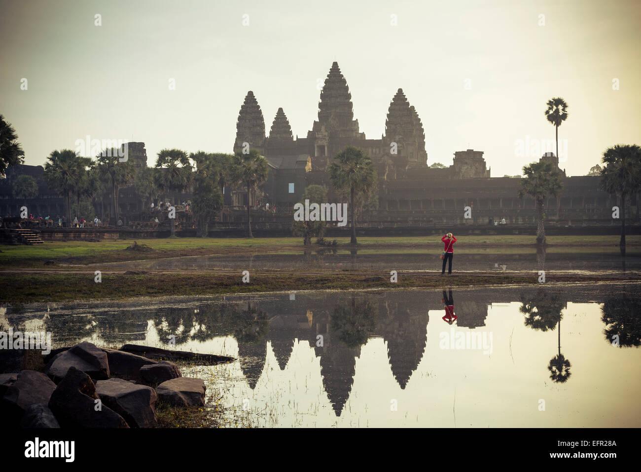 Angkor Wat temple, Angkor, Cambodia. - Stock Image