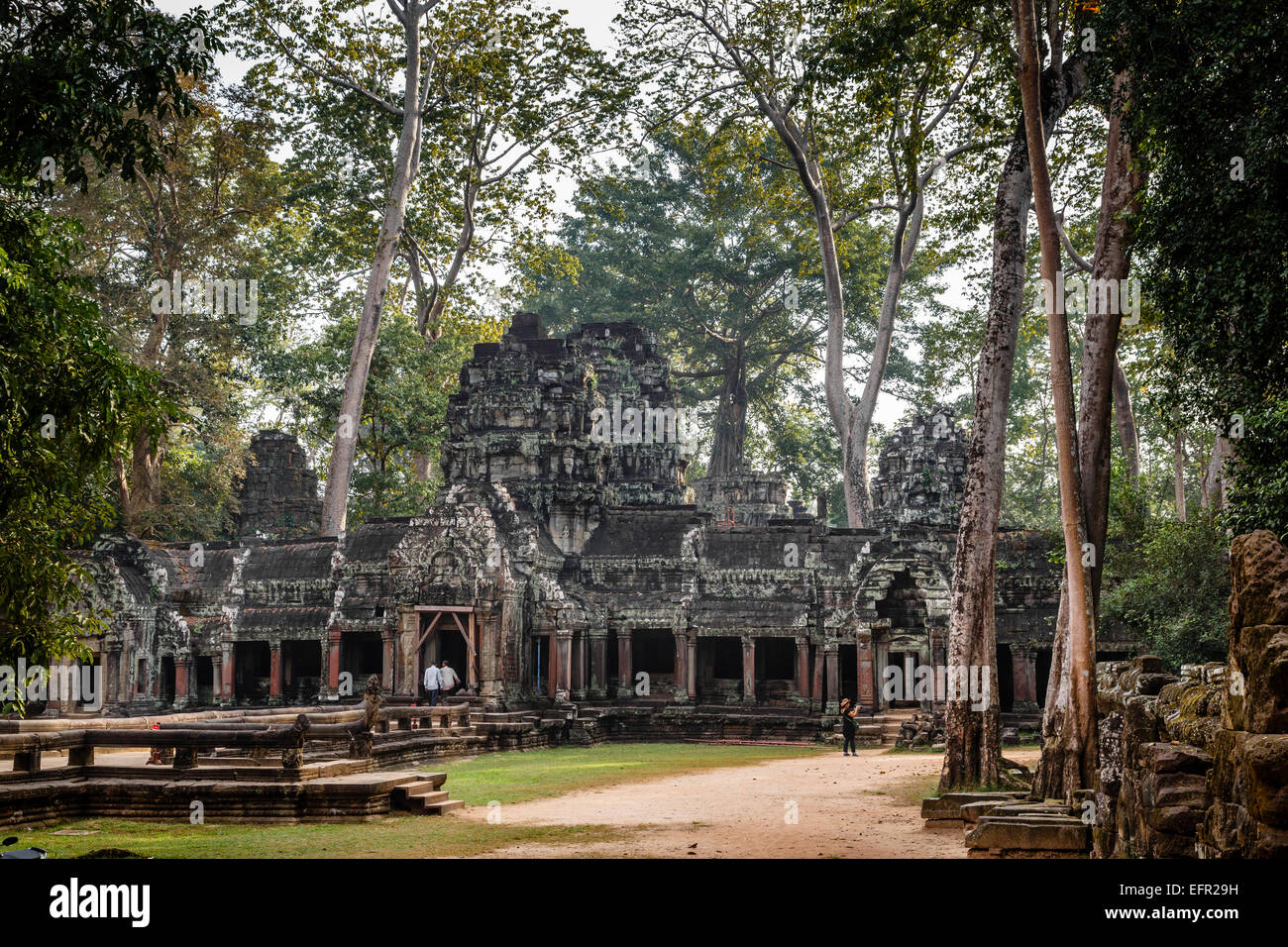 ruins of the Chau Say Tevoda Temple, Angkor, Cambodia. - Stock Image