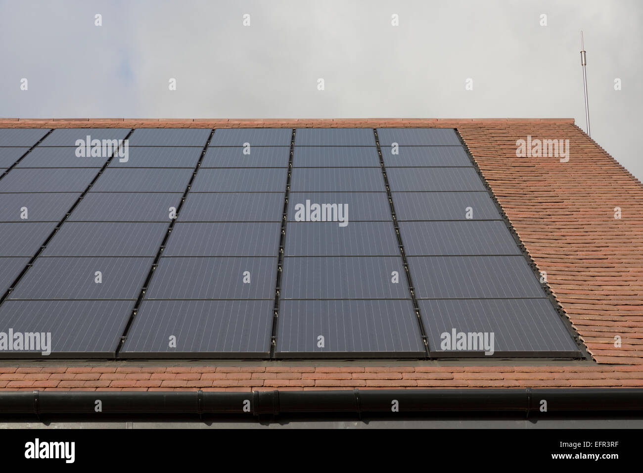 Thin Film Solar Pv Panels On Roof Community Centre Zero