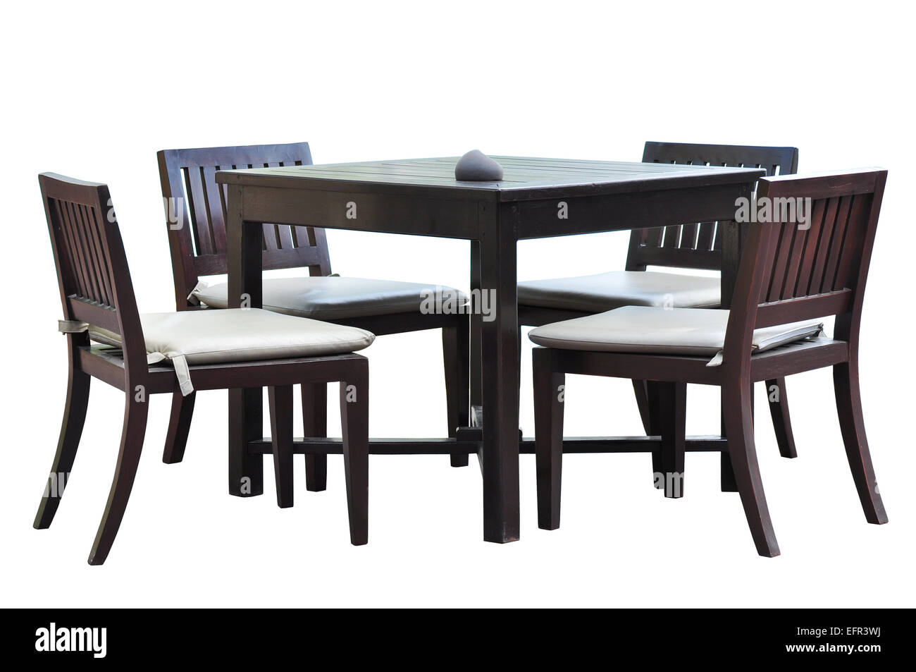 Dining furniture with clipping path - Stock Image