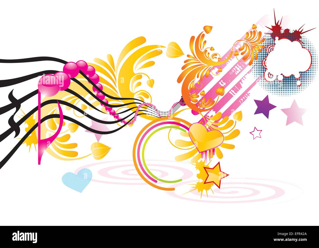 funky music background with pink notes  vector White Halftone Vector Grunge Halftone Vector