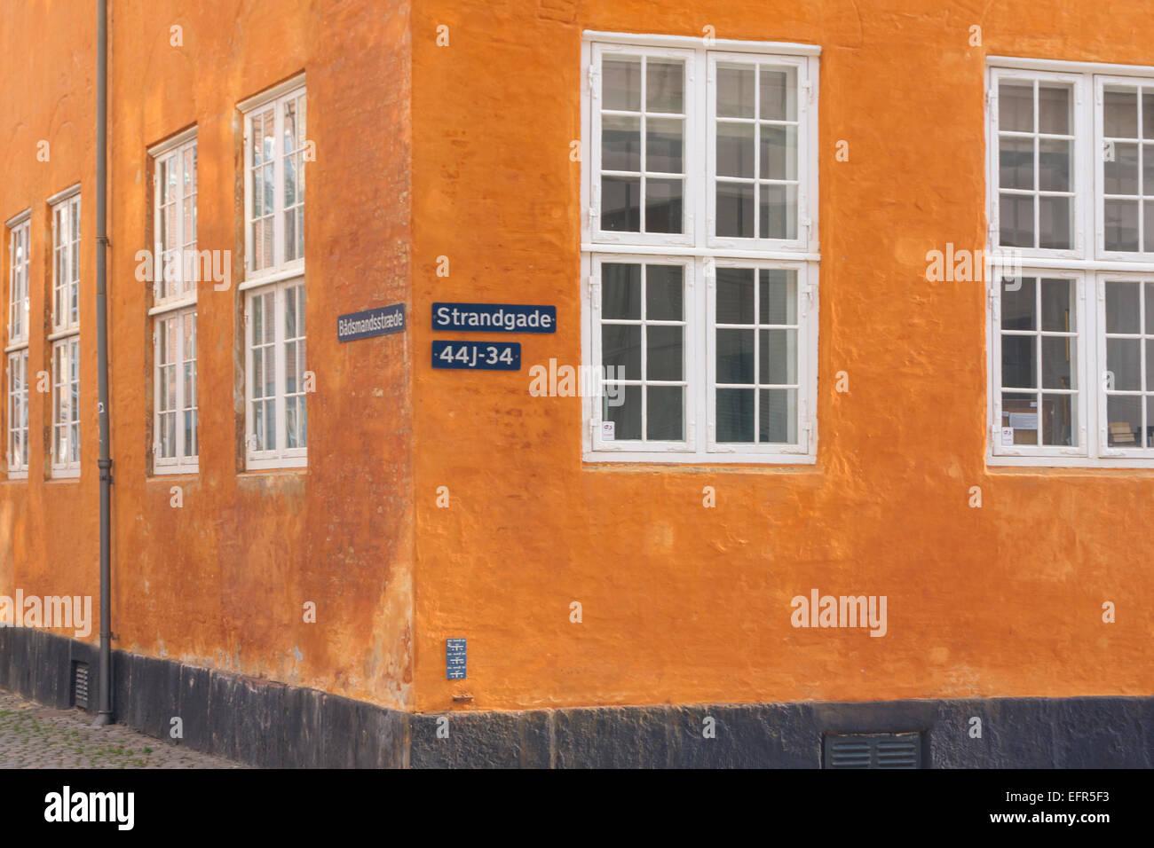 Old building on Strandgade. Christianshavn, Copenhagen, Denmark Stock Photo