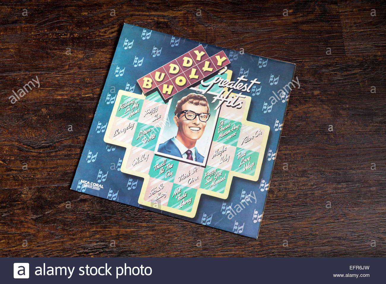 Buddy Holly Greatest Hits album - Stock Image