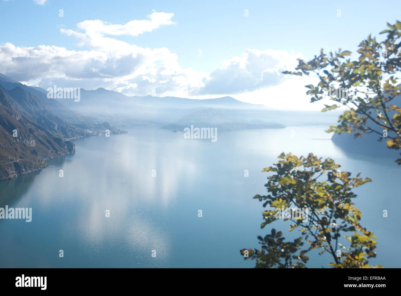 Lake Iseo Italy - Stock Image