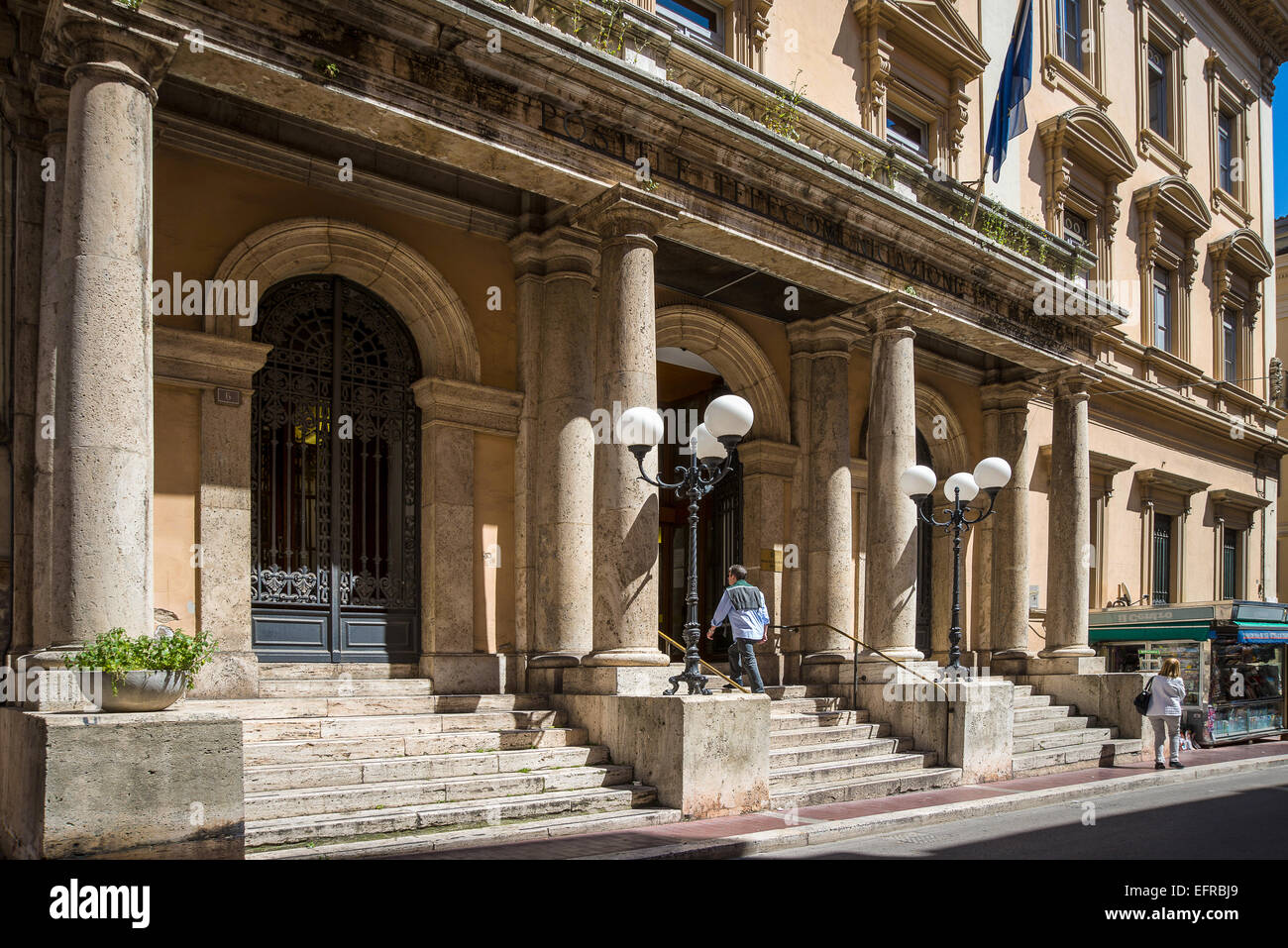 Italy, Abruzzo, Chieti, the postal building designed in 1920 by Eng . Benjamin Angelozzi - Stock Image