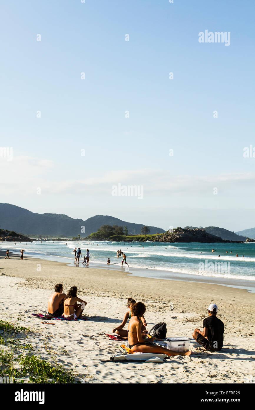 Matadeiro Beach. Florianopolis, Santa Catarina, Brazil. - Stock Image