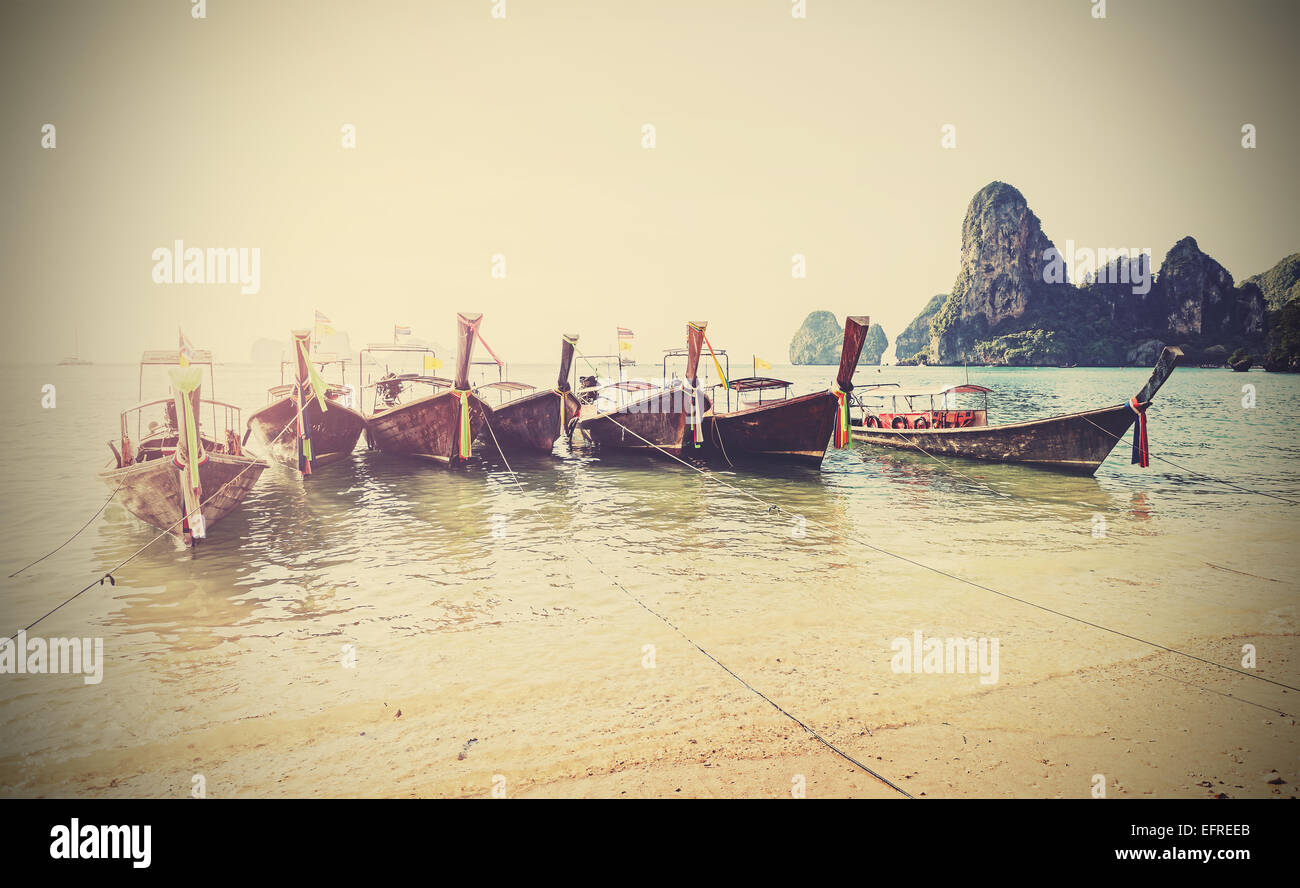 Retro style filtered faded postcard from Thailand. - Stock Image