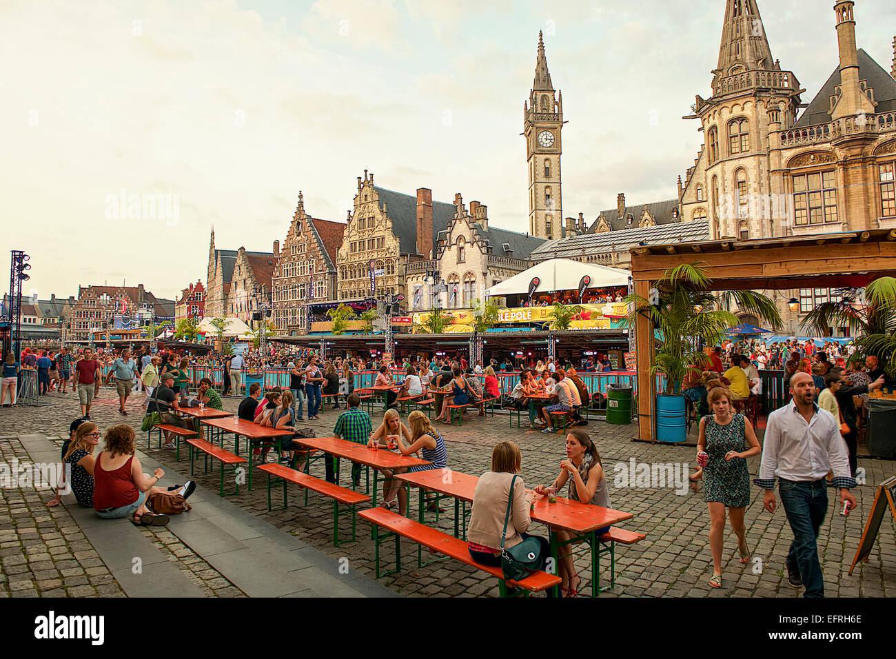 Korenmarkt Square, Ghent, Belgium Stock Photo: 78579718 ...