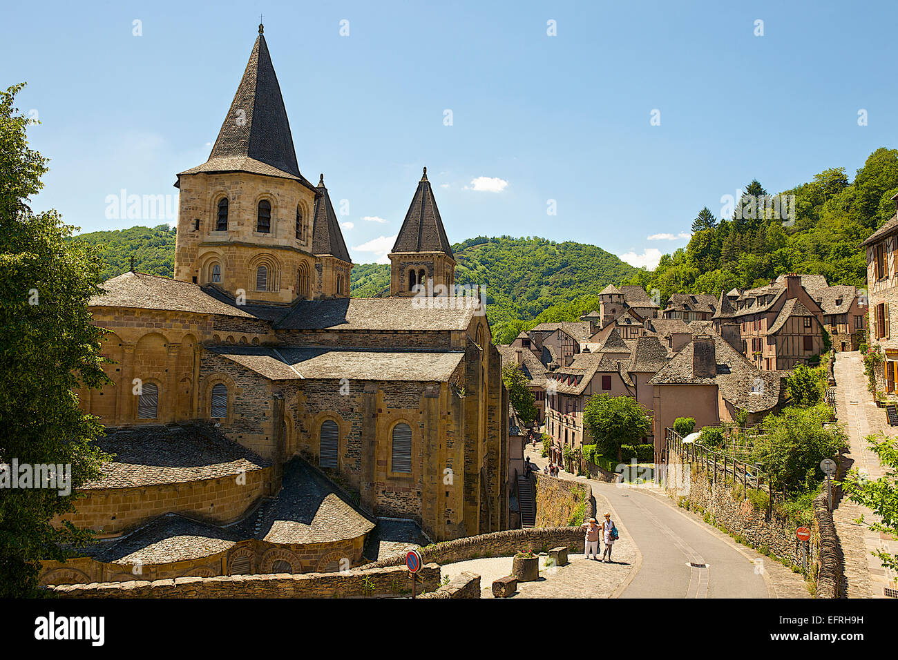 Conques Village, France - Stock Image