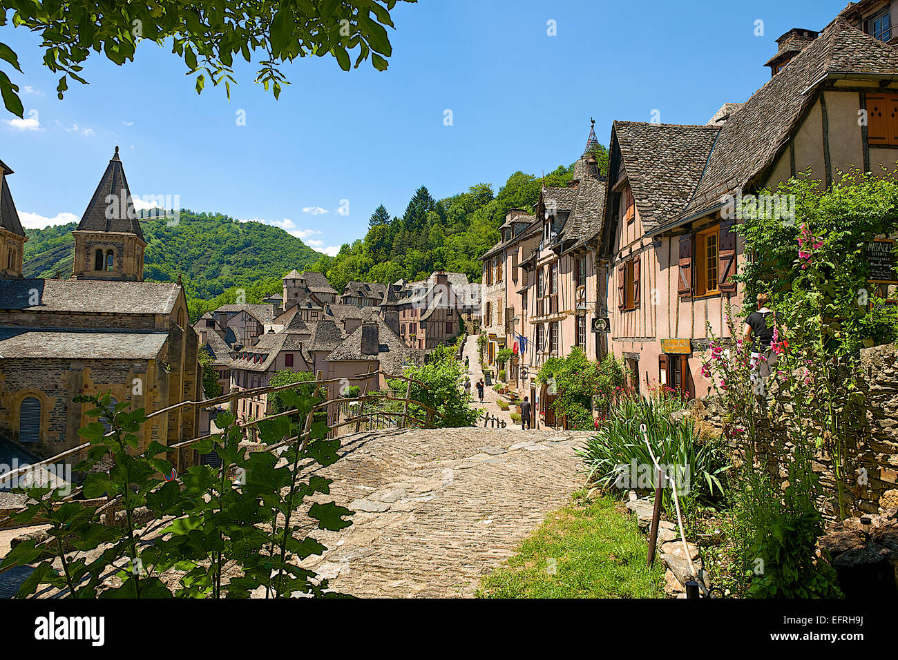 conques village, france stock photo: 78579806 - alamy