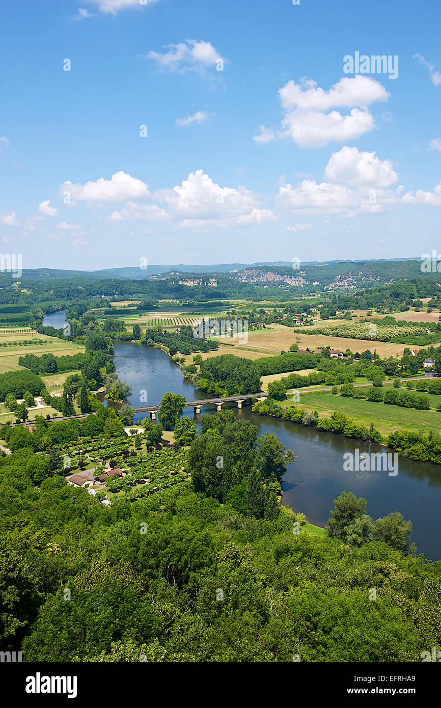 Dordogne River, Domme, France Stock Photo