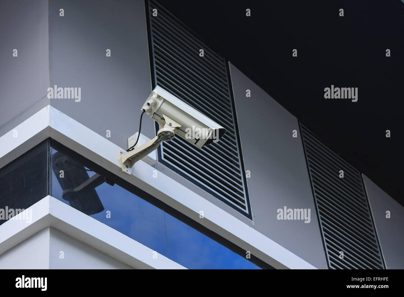hi-def security surveillance camera  at home office - Stock Image
