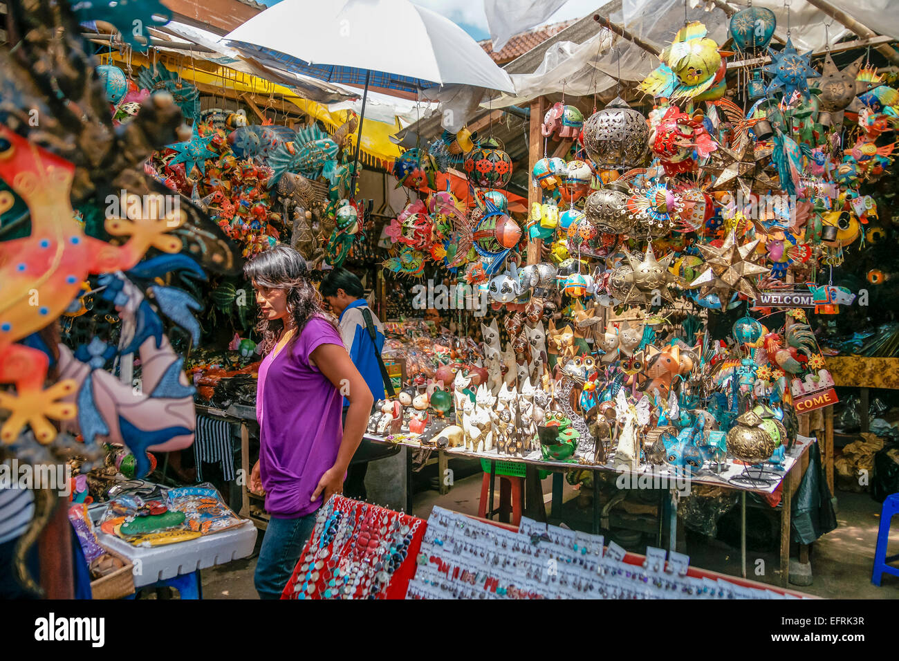 Souvenir shop in Ubud, Bali, Indonesia - Stock Image