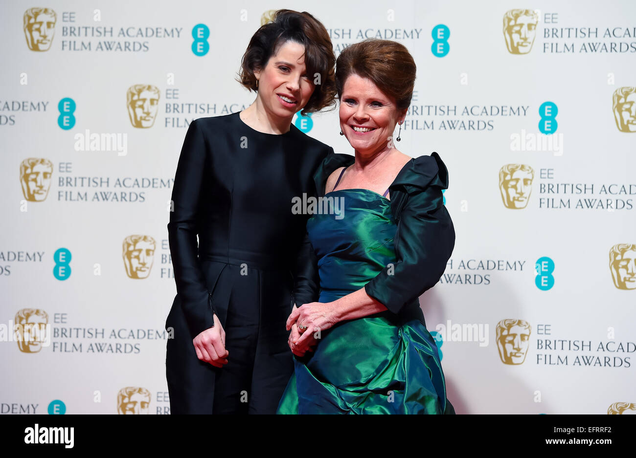 Sally Hawkins and Imelda Staunton at the EE British Academy Film Awards at The Royal Opera House on February 8, - Stock Image