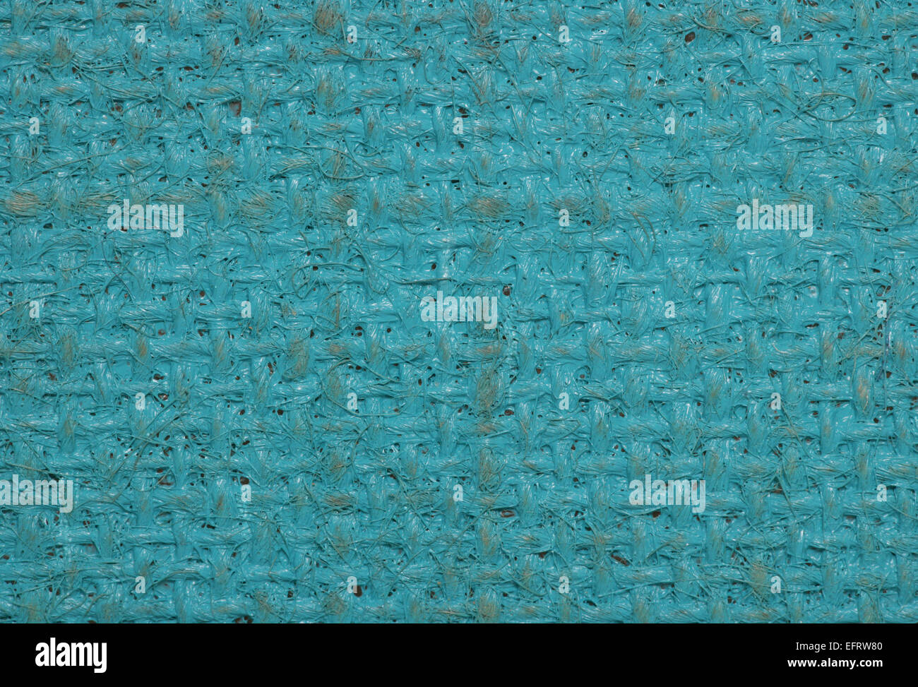 blue painted hessian canvas abstract background - Stock Image