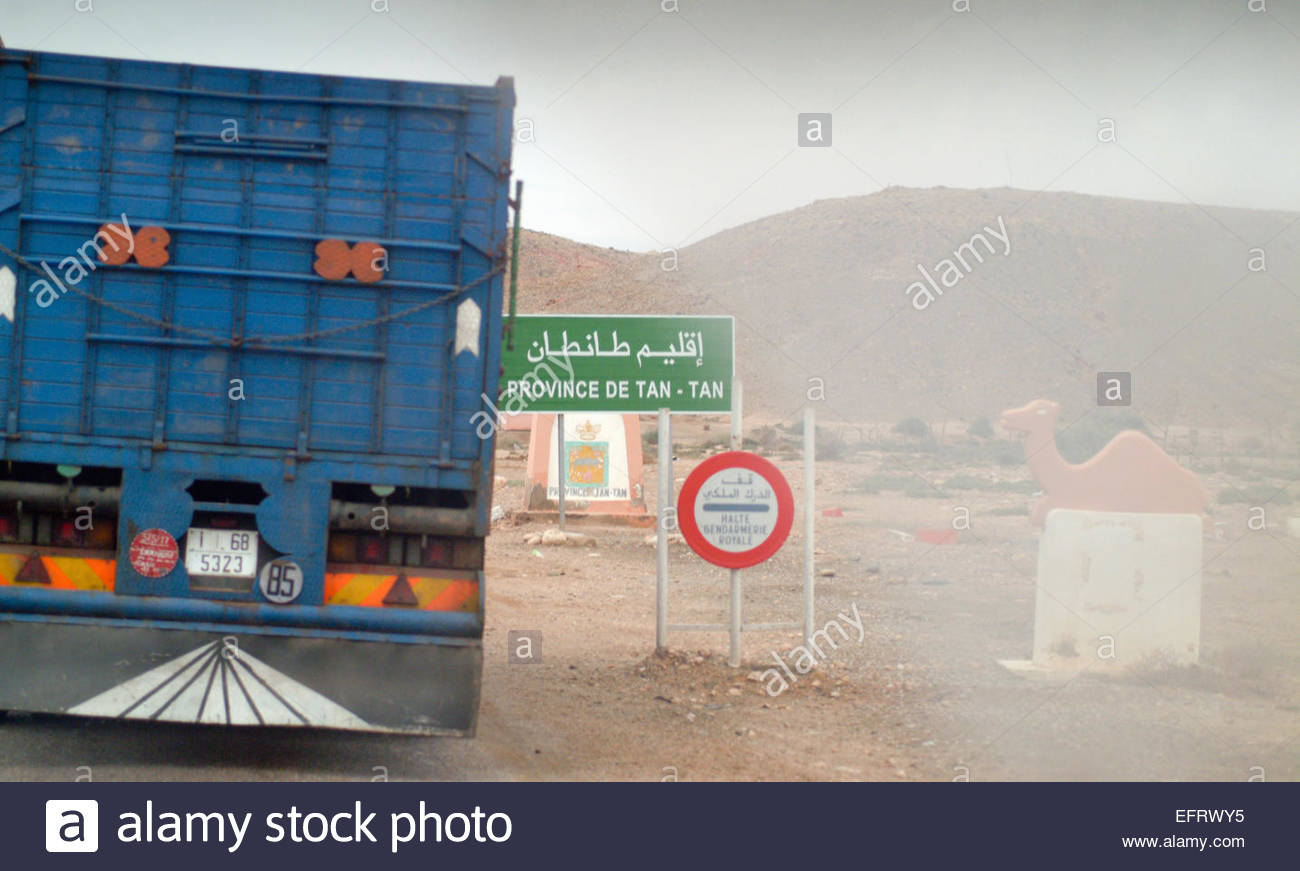 Western Sahara Spanish Sahara Sahara Espanol EH ESH North Africa Currently Occupied By Morocco (Sahara Desert Full Stock Photo