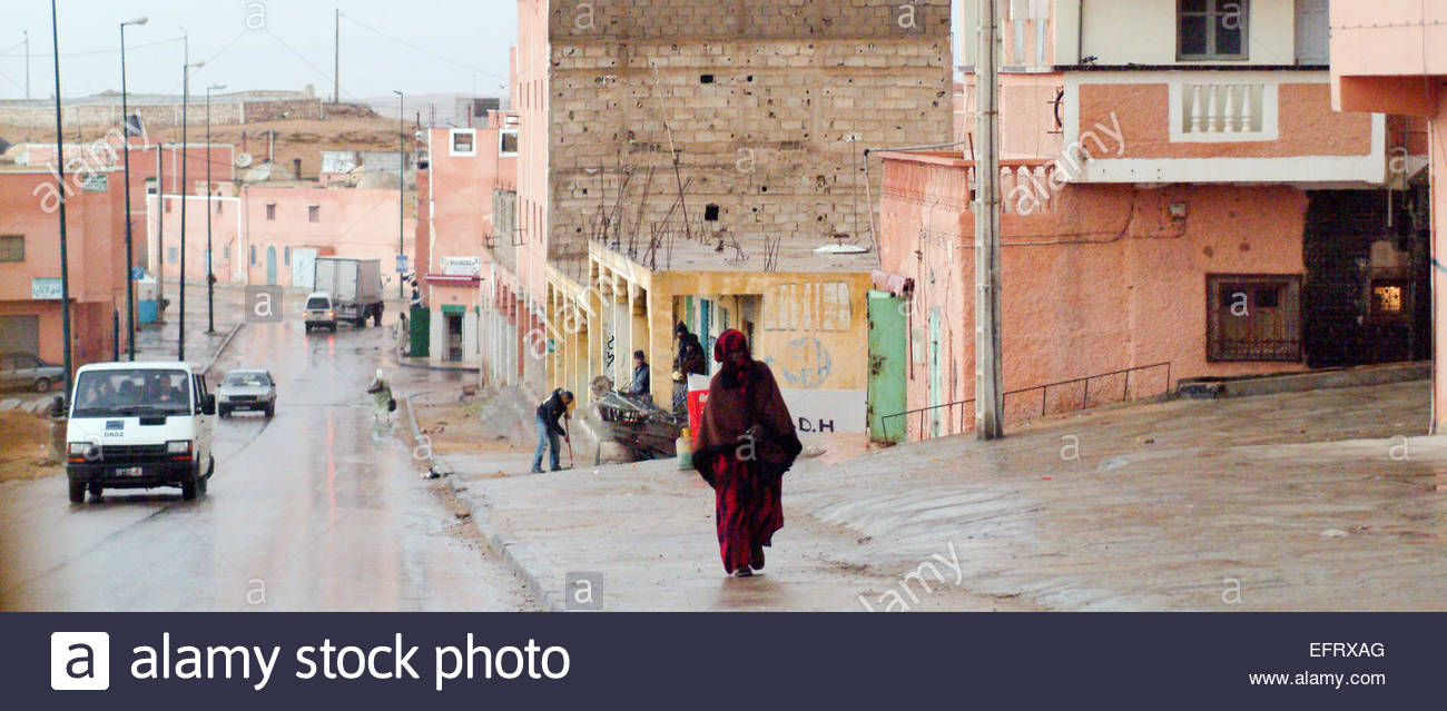 Western Sahara Or Spanish Sahara Occupied By Morocco Western Sahara Spanish Sahara Sahara Espanol EH ESH North Africa Stock Photo