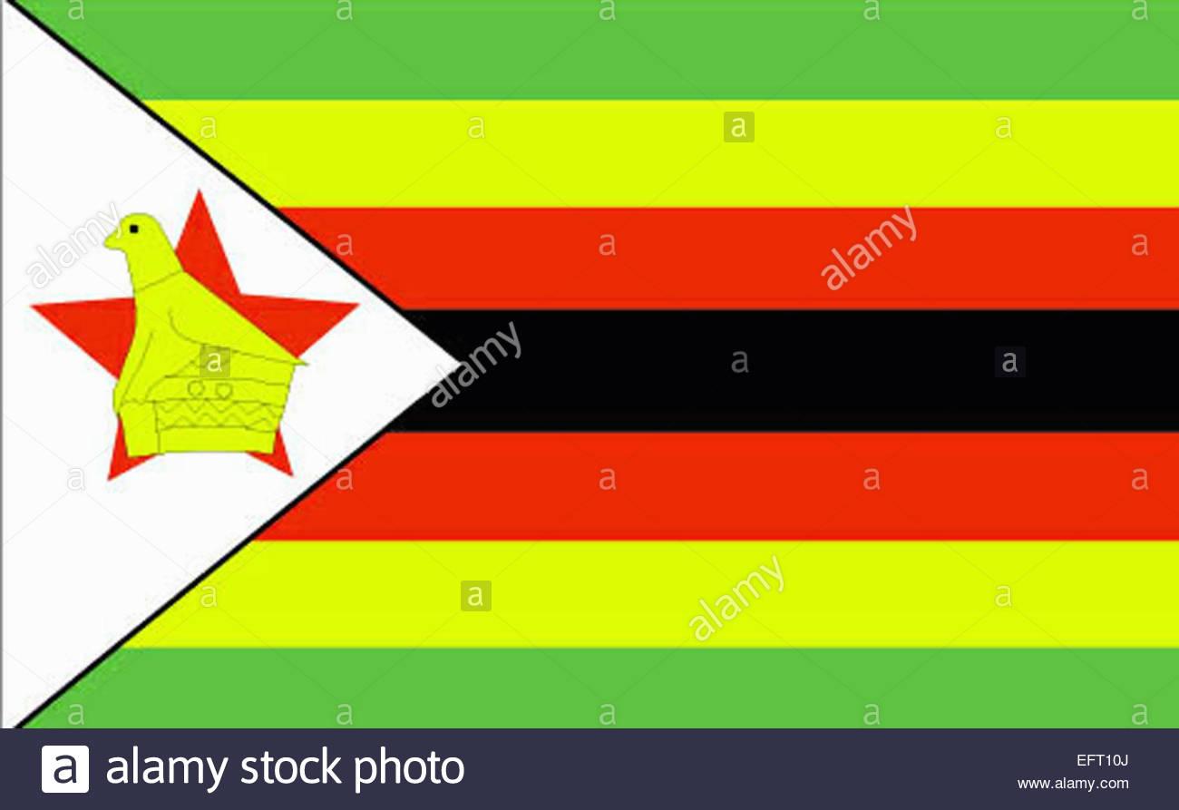 Flag Republic Of Zimbabwe Southern Africa ZWE Red Yellow ... - photo#25