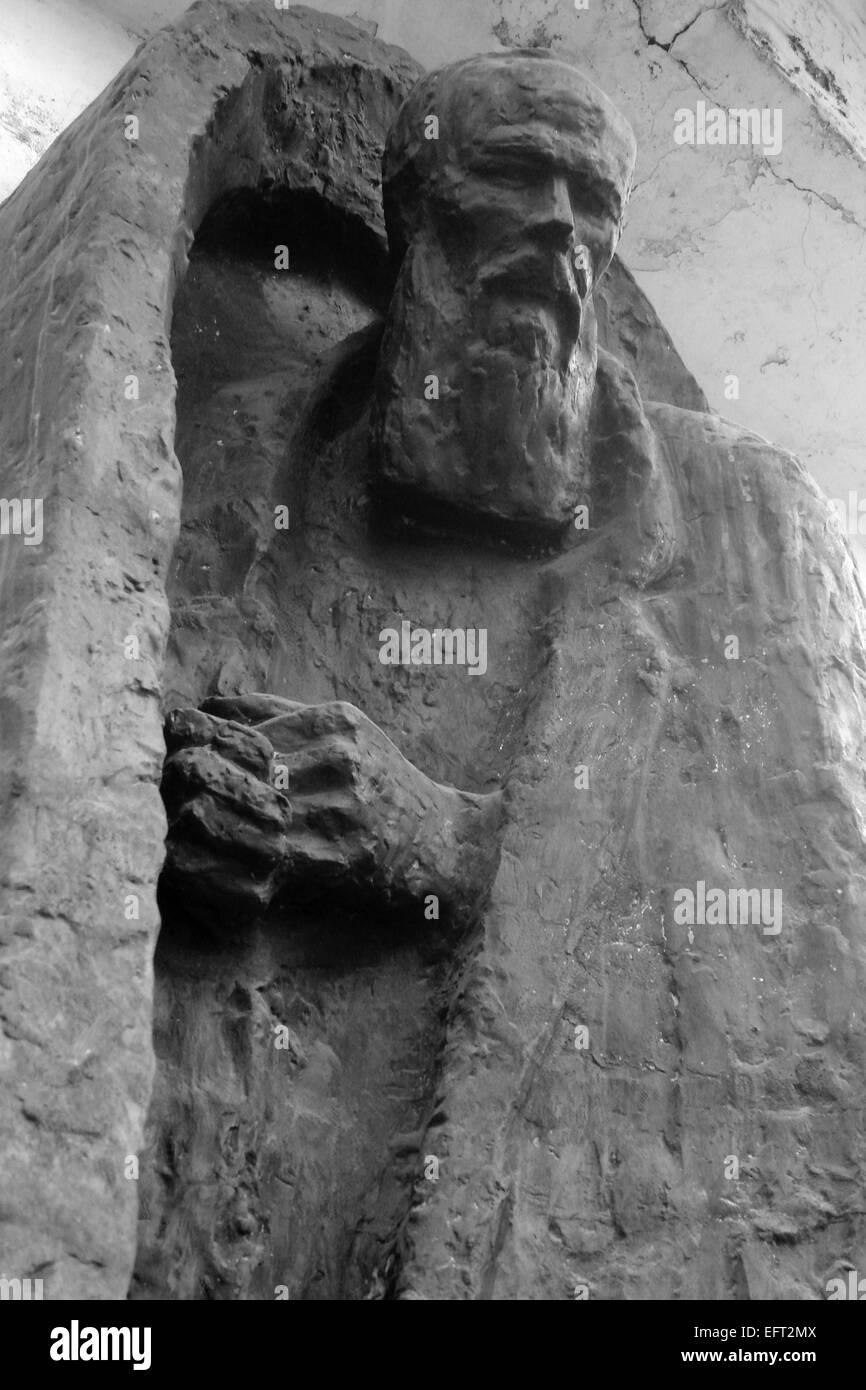 statue of Fjodor Michailowitsch Dostojewski in St.Petersbu(* 1111.1821 in moscow; † 0209 1881 in Sankt Petersburg) - Stock Image