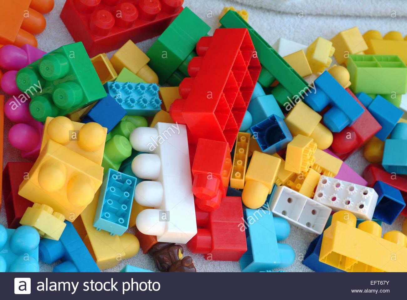 Educational Toys Age 2 : Preschooler boys playing toy blocks stock photos & preschooler boys