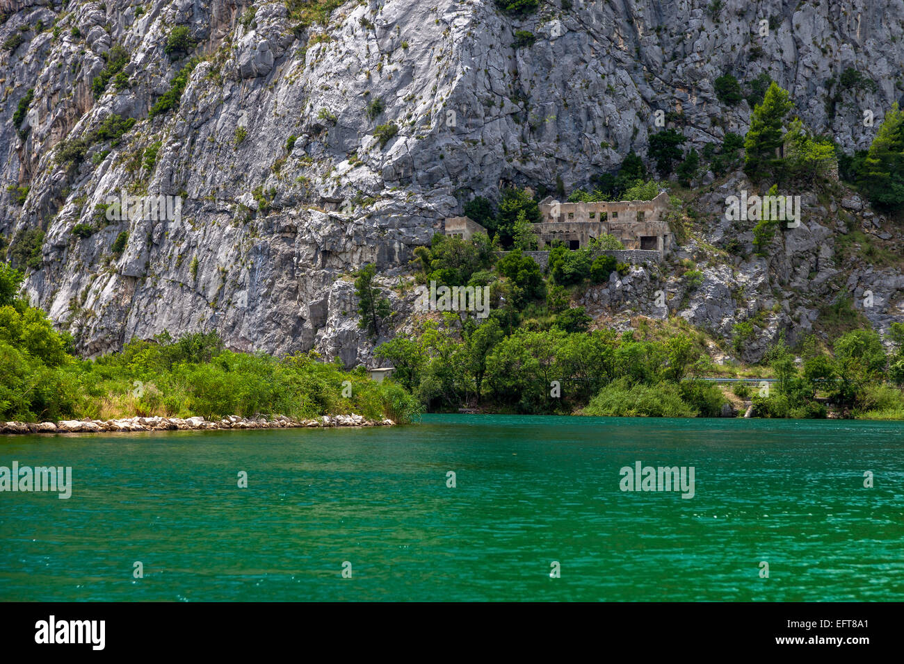 Cetina river canyon is a place of beautiful landscapes. Omis, Croatia. Stock Photo