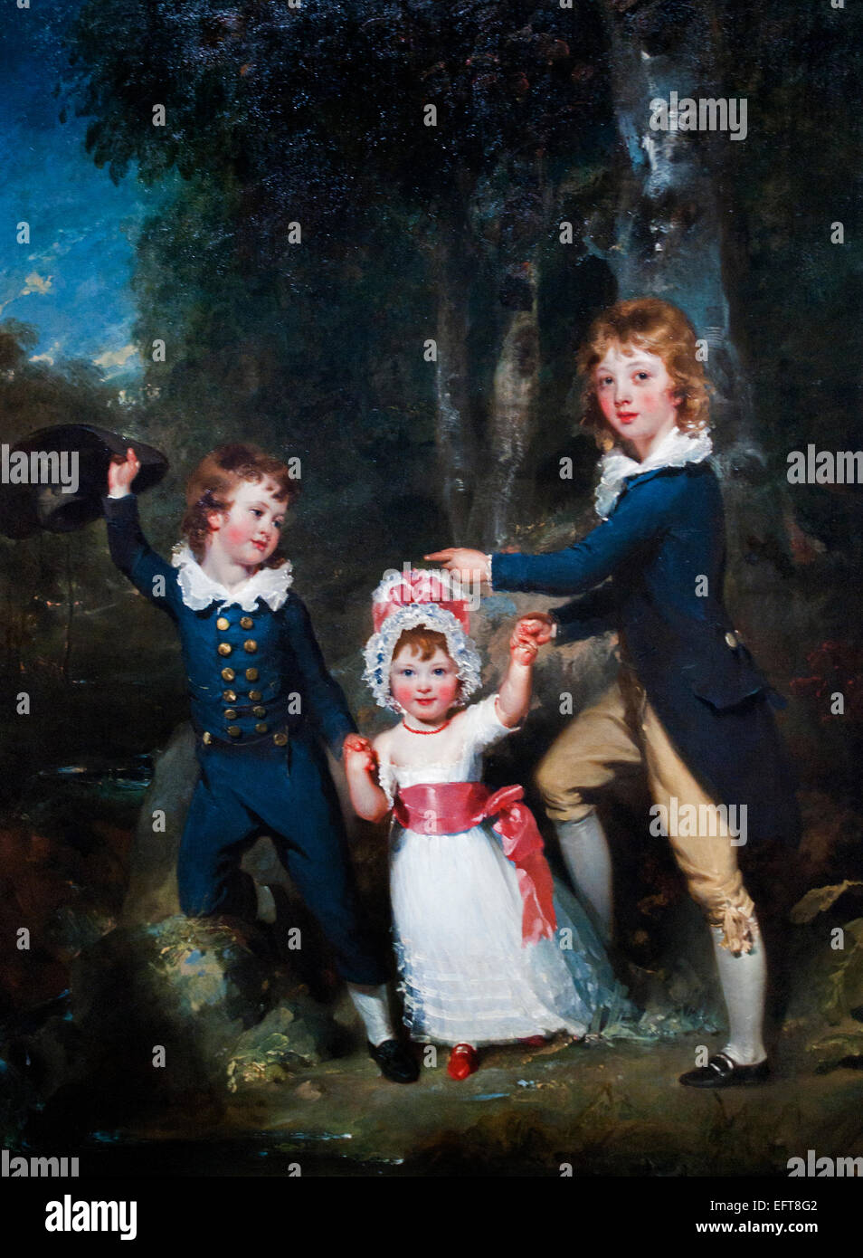 Portrait of the Children of Lord George Cavendish, from left to right 1790 Sir Thomas Lawrence 1769 - 1830  UK United - Stock Image
