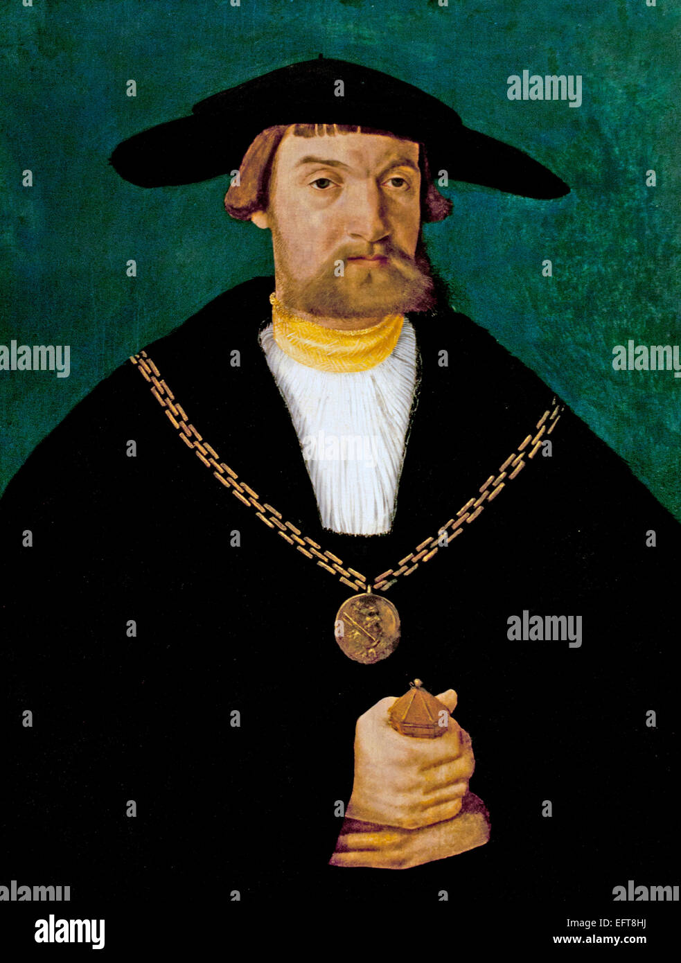 Portrait of Blasius von Holzhausen (1481-1525) 1523 Hans Abel the Younger (1506 - 1567) German Germany - Stock Image