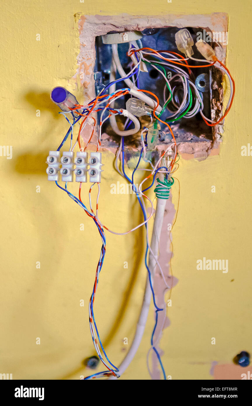 Junction Box Wiring Stock Photos & Junction Box Wiring Stock ... on