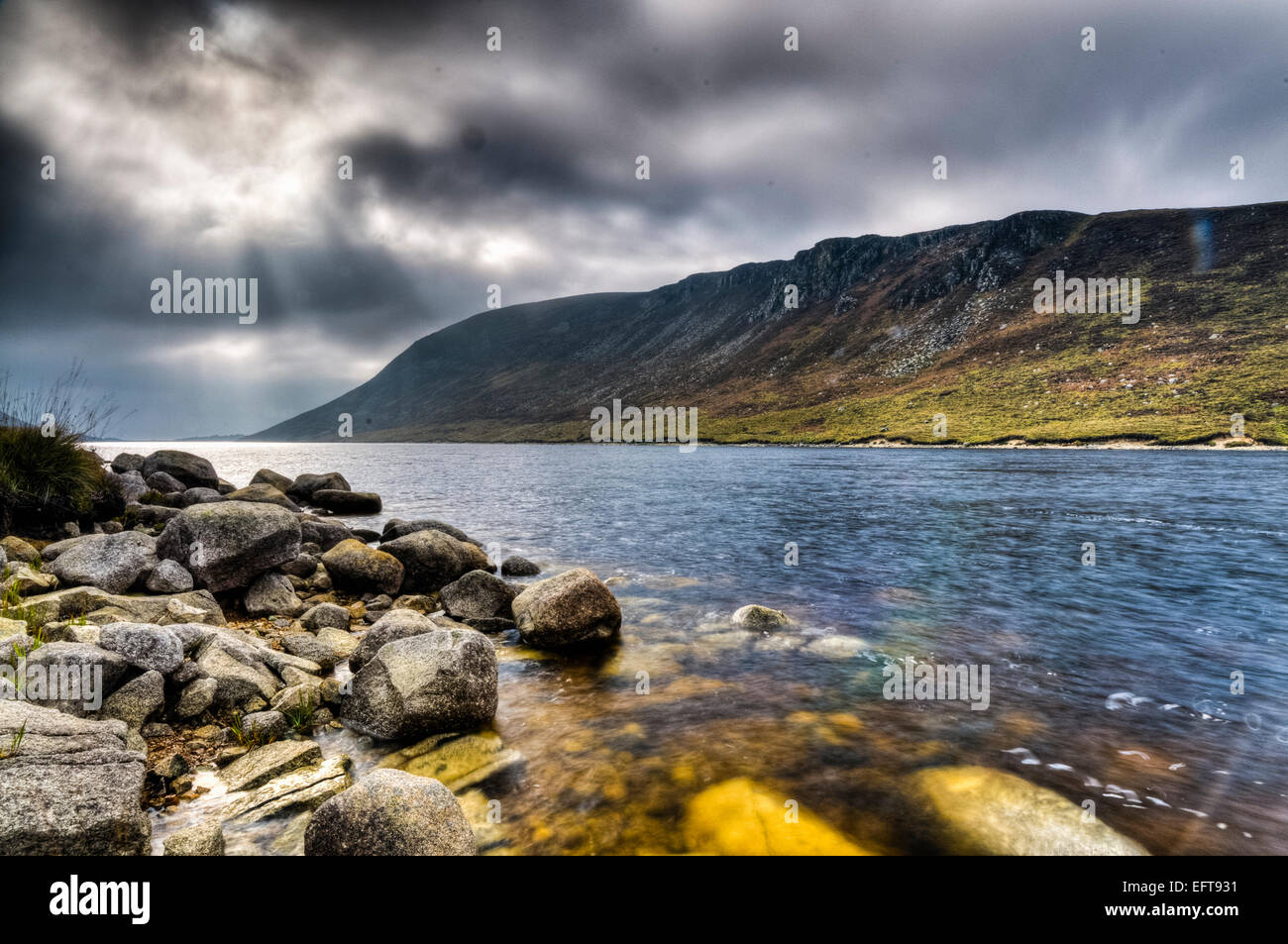 Silent Valley, Mountains of Mourne, Northern Ireland, which featured in a number of scenes from Game of Thrones - Stock Image