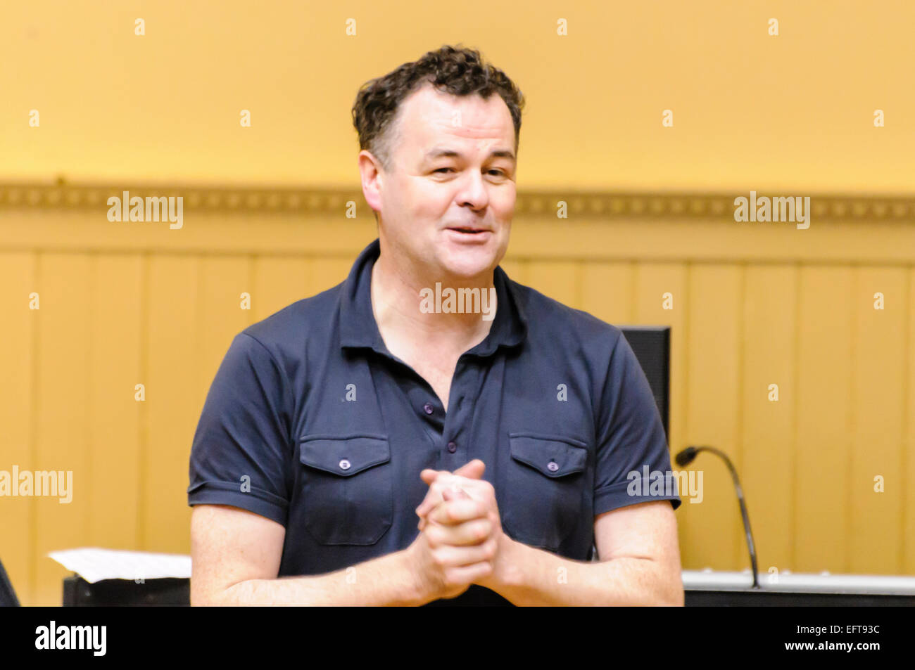 Belfast composer Brian Irvine - Stock Image