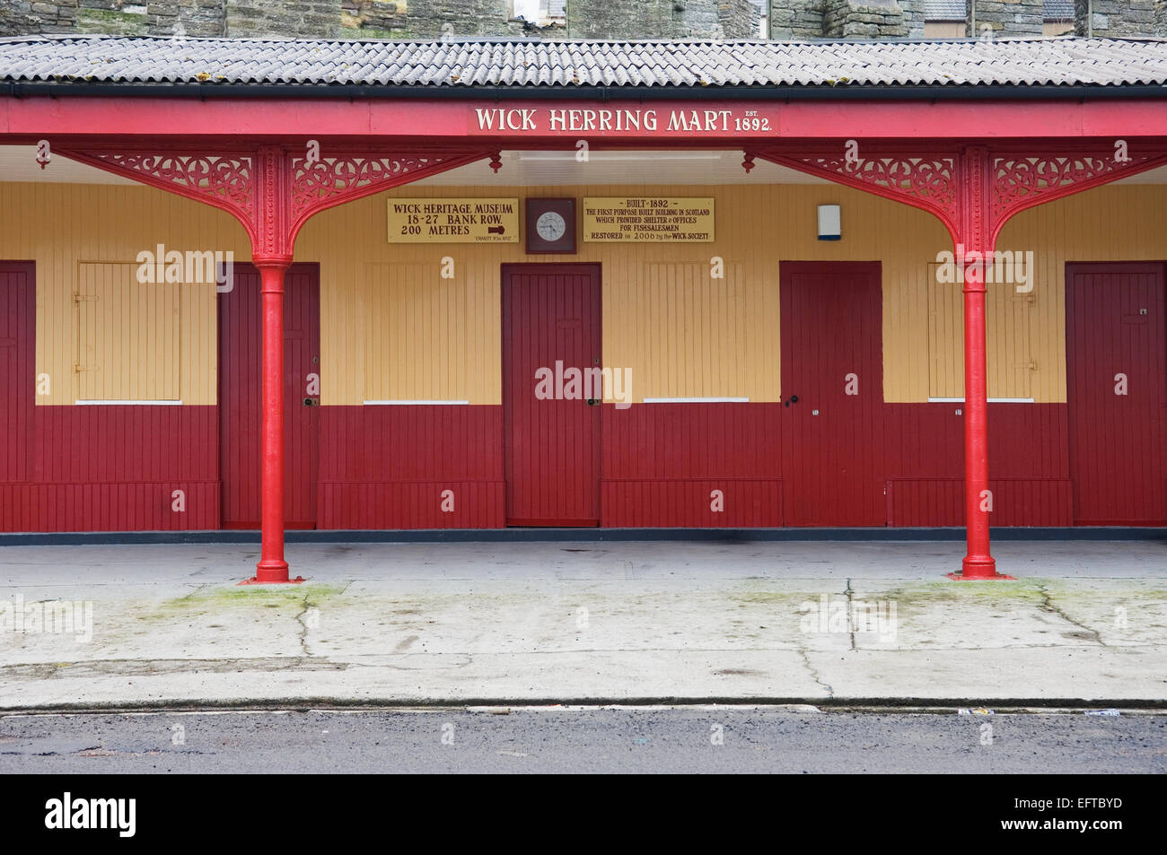 Wick Herring Mart - restored building at Wick harbour, Caithness. - Stock Image