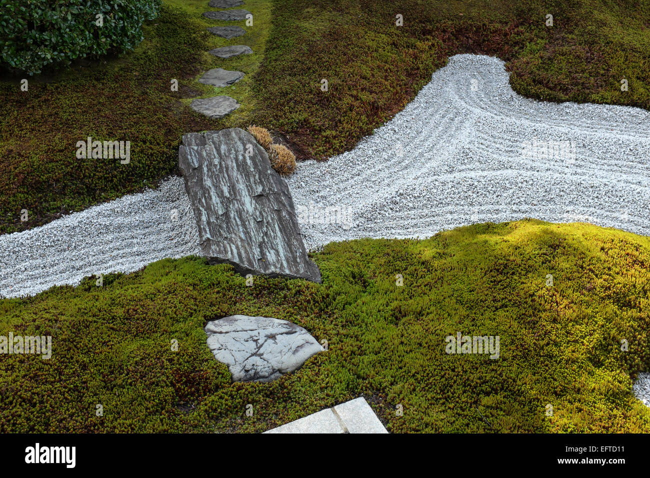 Japan - Kyoto - Zen gravel gardens at Daitoku-ji Temple, Kyoto - Stock Image