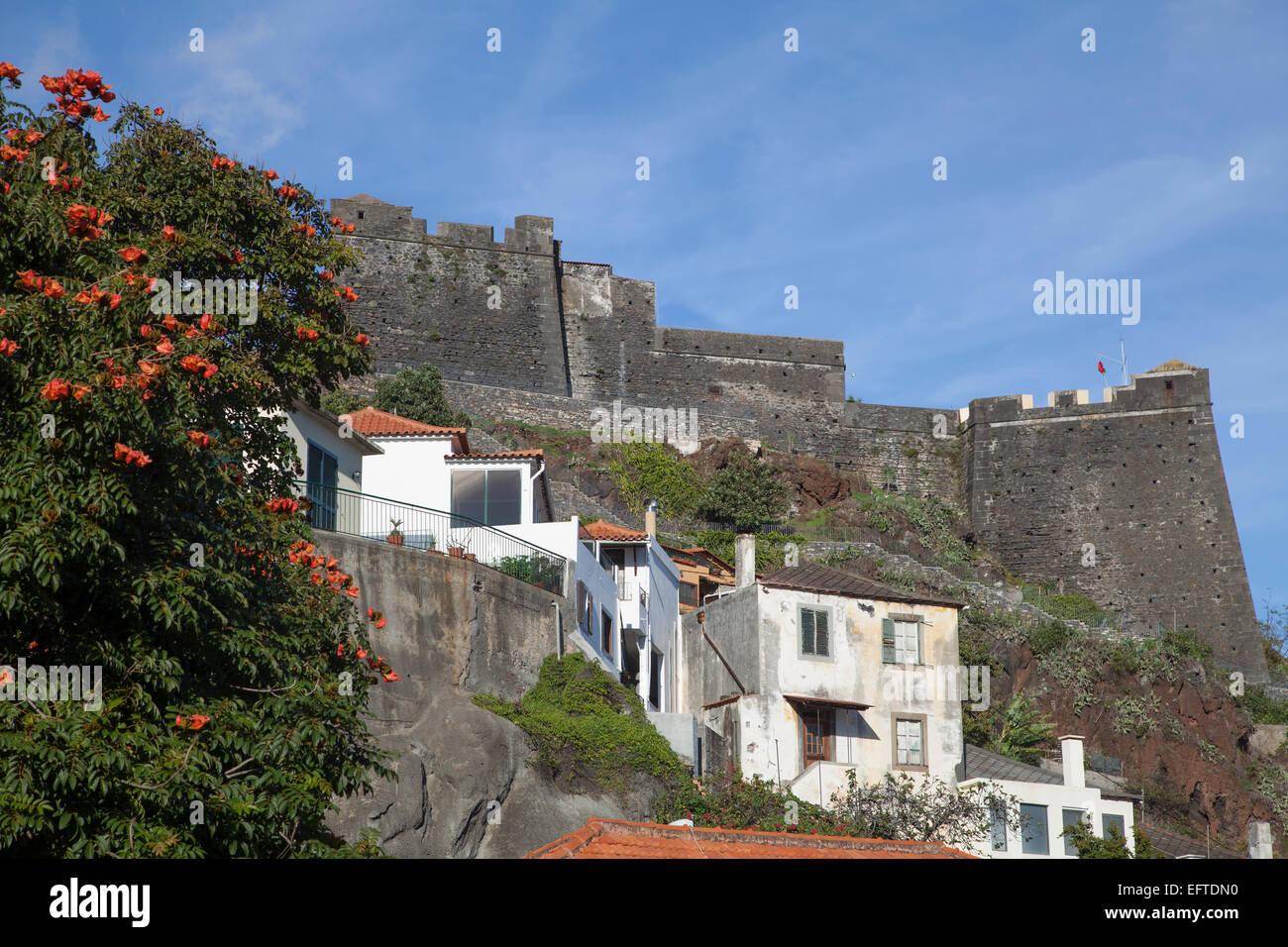 The 17th C Fortaleza de São João Baptista do Pico at Funchal Madeira - Stock Image