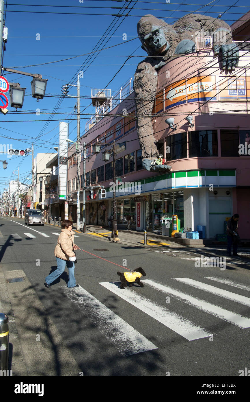 Street life in the Setagaya suburb of Tokyo. Japan - Stock Image
