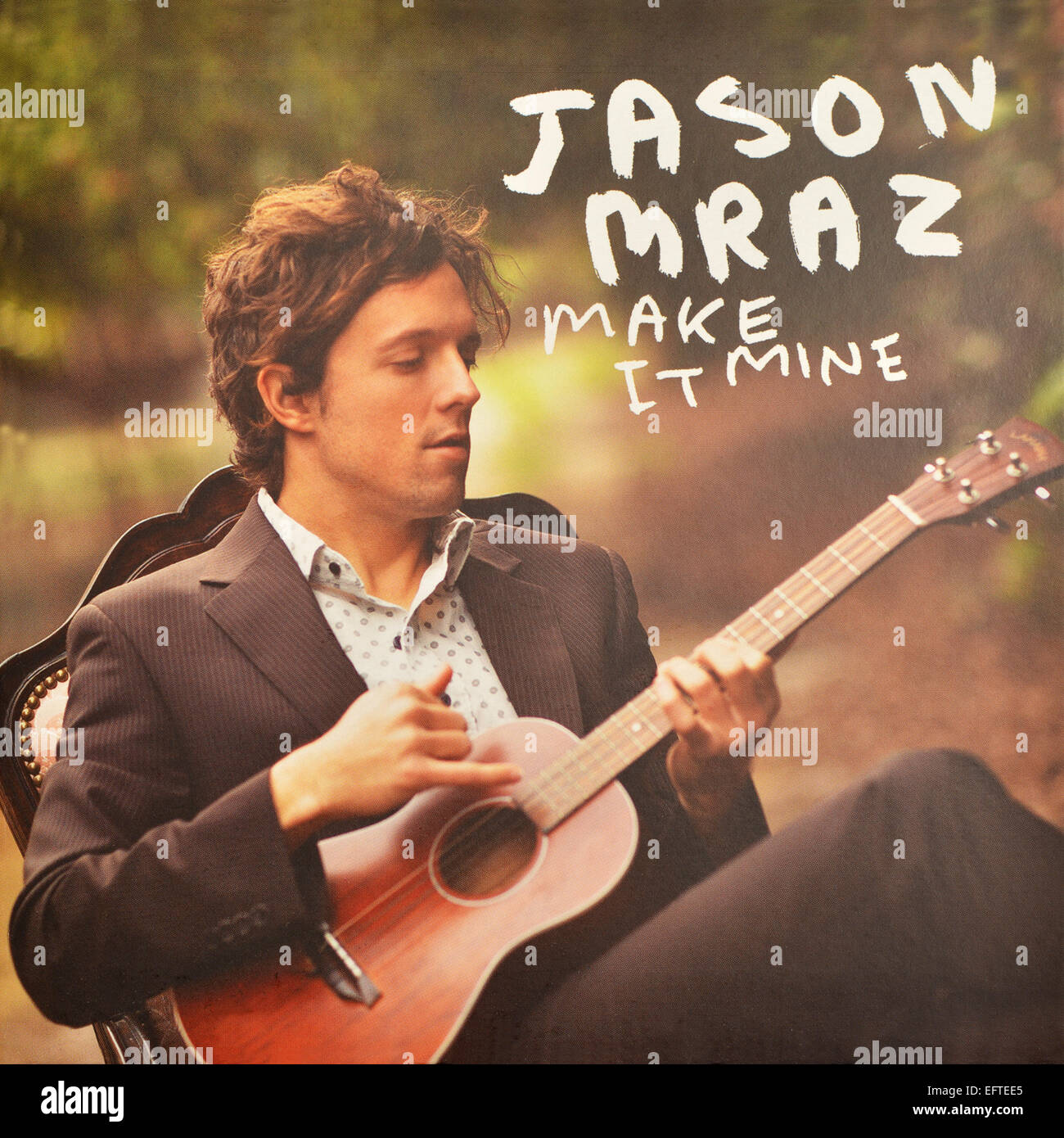 Jason Mraz record cover of Make It Mine. Released by Atlantic Records in 2009 - Stock Image