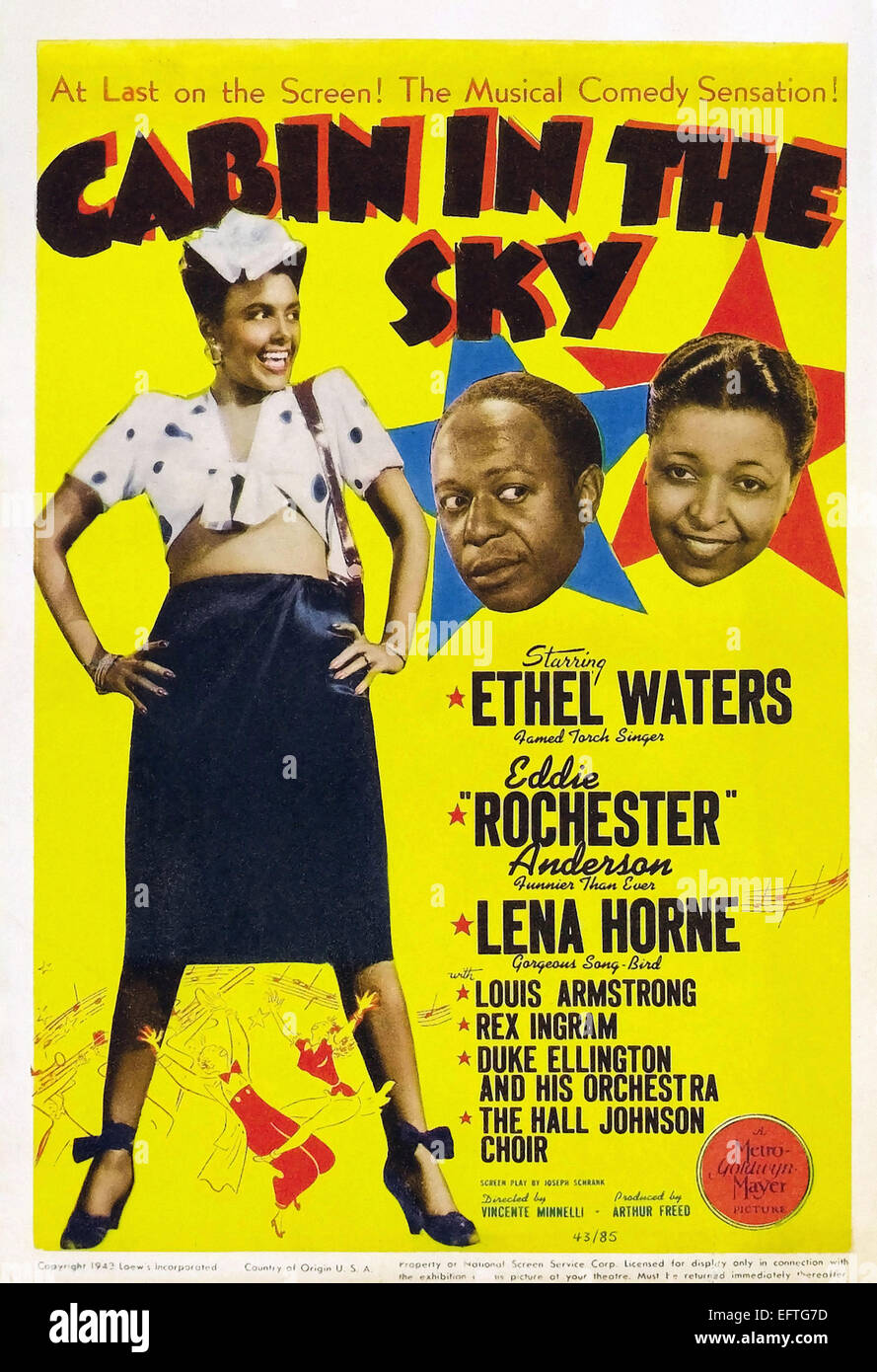 ADVERTISING MOVIE FILM MUSICAL CABIN SKY COMEDY AFRICAN AMERICAN POSTER LV1073