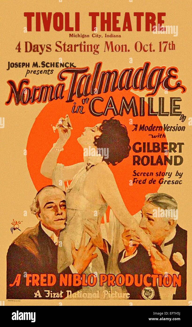 Camille - 1925 - Norma Talmadge - Movie Poster - Stock Image