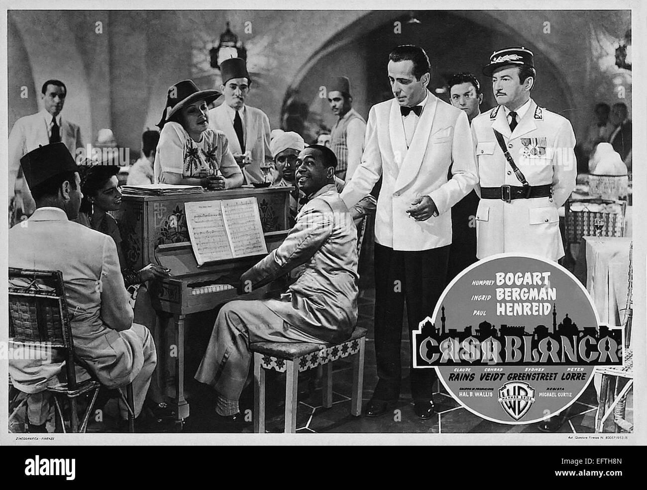 Casablanca bogart movie poster