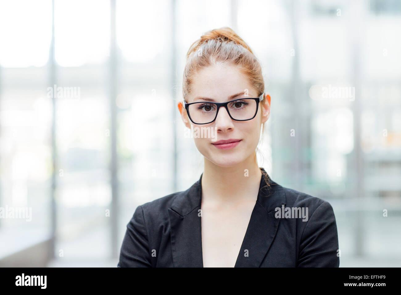 Portrait of businesswoman - Stock Image